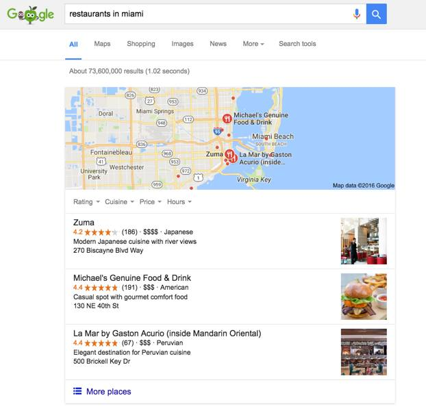 Local SEO Miami Restaurant \