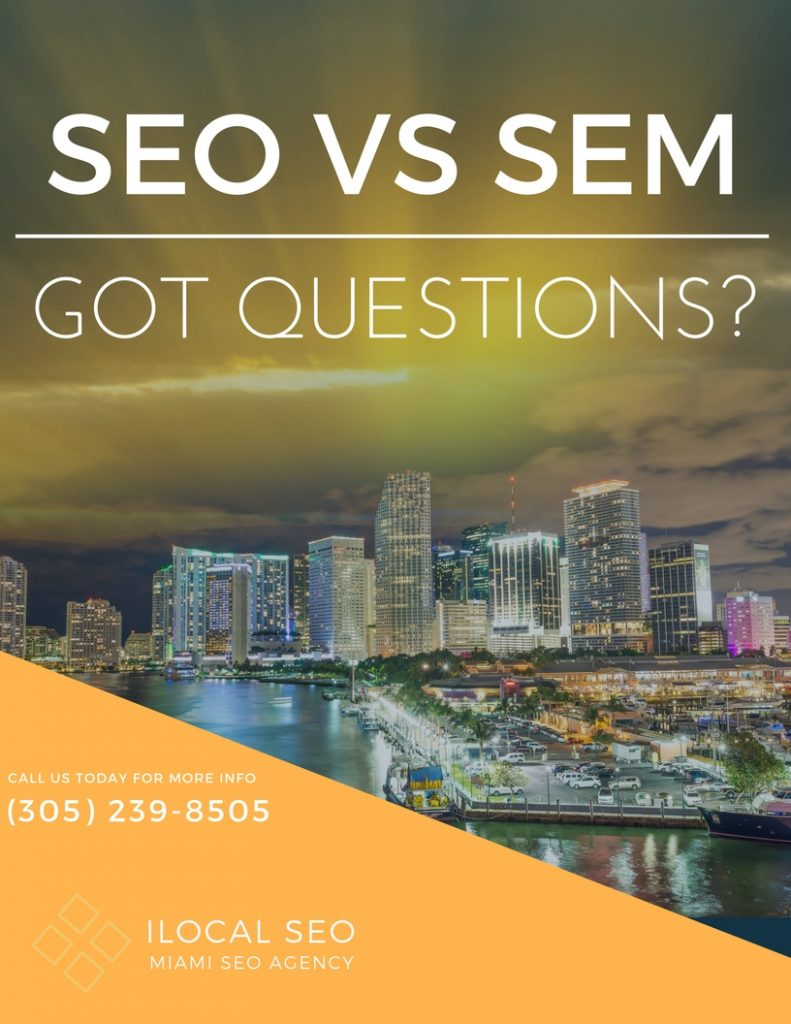 What is the difference between SEO vs SEM?
